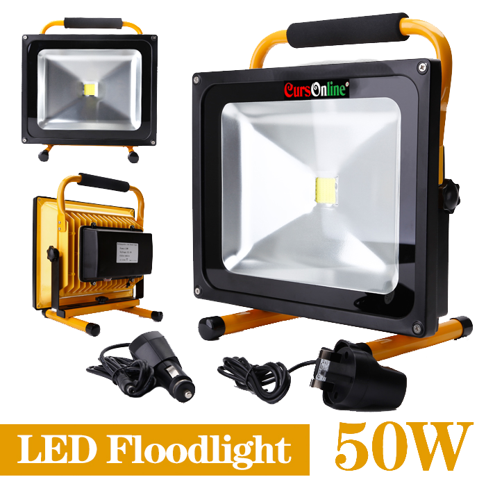 Faro led portatile da esterno ip65 alta qualit 50w for Led esterno 50w