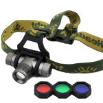 Torcia Frontale Led Cree Q5 + Zoom + 3 Filtri BL-K9