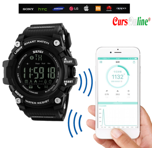 SKMEI 1227 bluetooth smart watch with sport real-time recording