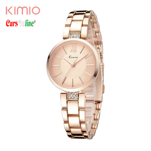New Women Fashion Rose Gold Deployment Buckle Kimio KW6133