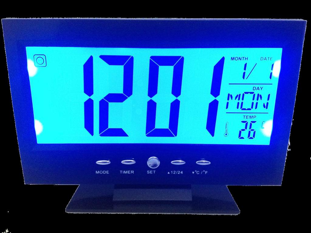 Alarm/Clock with Voice Control & Back Light LCD CursOnline