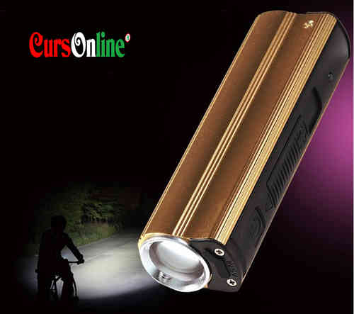 Torcia Led Cree Q5 + Power Bank 4in1