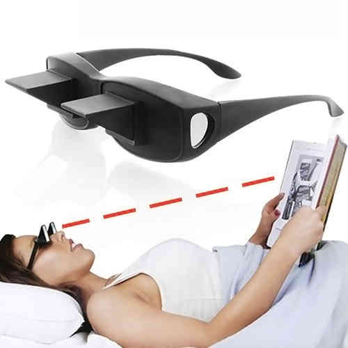 Lazy Lying Down Bed-Reading Watching TV Prism Glasses
