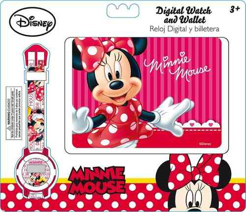 Minnie Mouse Watch with Wallet set