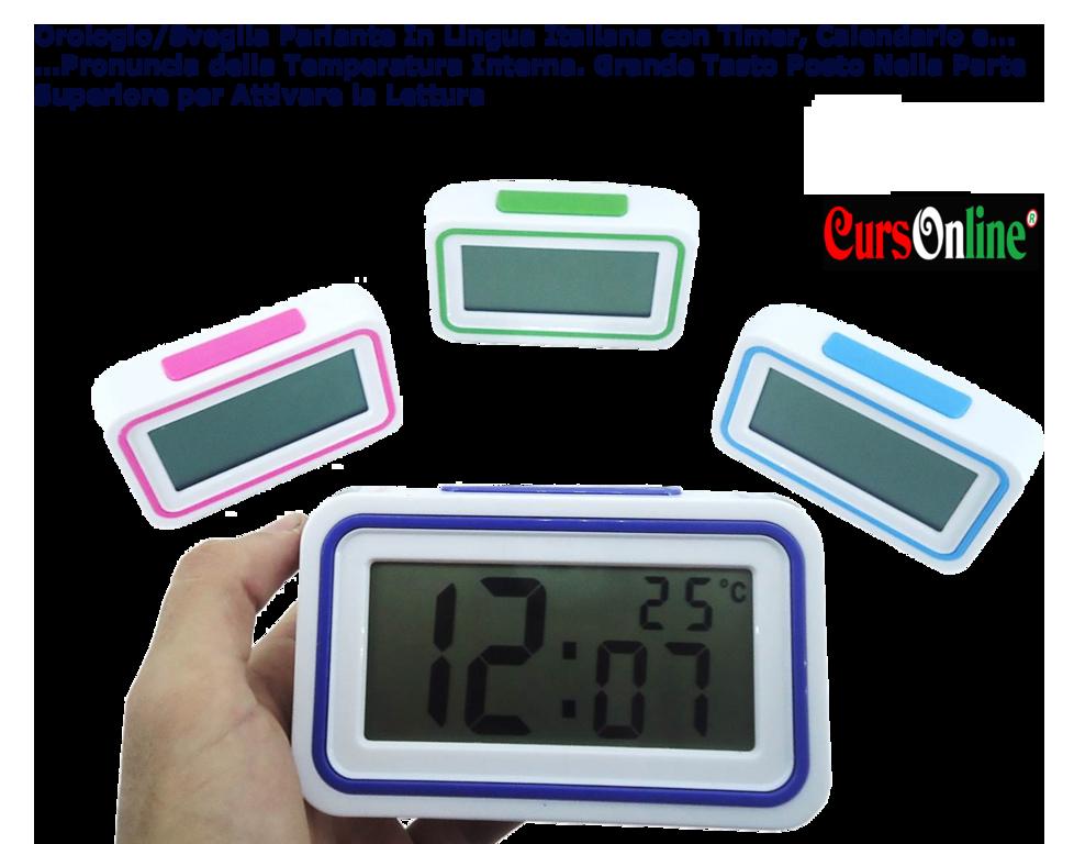 Orologio sveglia parlante italiano digitale temperatura data ipovedenti anziani ebay - Orologio da tavolo digitale ...