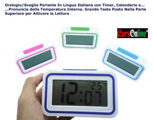 Alarm/Clock with Italian Voice and Thermometer Kenko KK-9905
