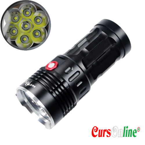 8000Lm 7x CREE XM-L2 LED Super Bright & Waterproof Flashlight
