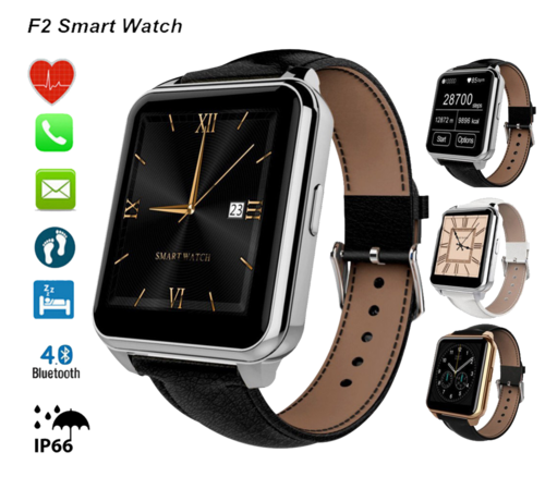 Smart Watch F2 IP66 Battito Cardiaco Fitness e Notifiche Ios/Android