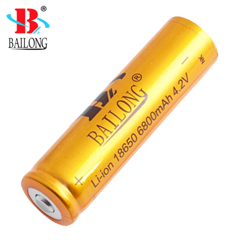 Gold Quality Bailong 18650 Recharg. Battery 6800mAh 4.2V