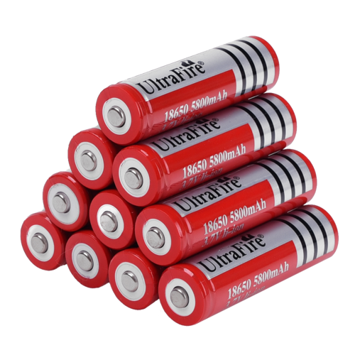 Batteria Ricaricabile UltraFire Red Edition 18650 5800mAh Li-ion 3.7V
