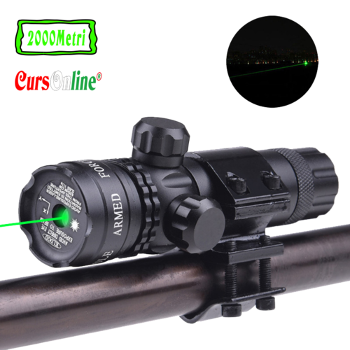 Hunting Green Dot Laser Sight Light Scope Barrel Rail Mount For Rifle Airsoft Gun