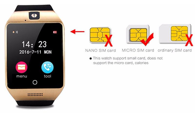 New WatchPhone With Graceful Arc Sim Bt NFC Micro SD Card - CoL®