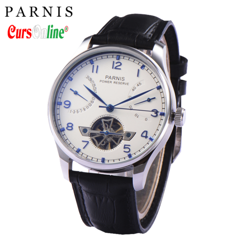 Men Classic Parnis Power Reserve Automatic Watch PN809
