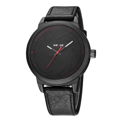 Weide Watch WD005 Japan Quartz Movement EPSON AL35 Black