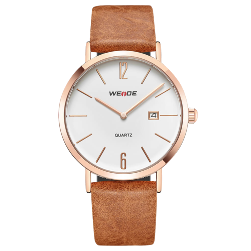 Weide Watch WD007 Japan Quartz Movement EPSON AL32 Gold